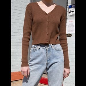 Brandy Melville brown Shannon cardigan sweater